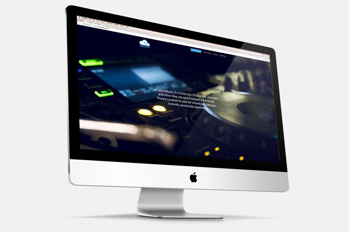 DJ Backup Startup Website iMac