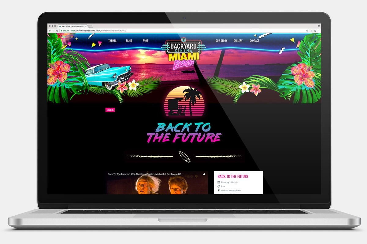 Miami Beach Website Laptop