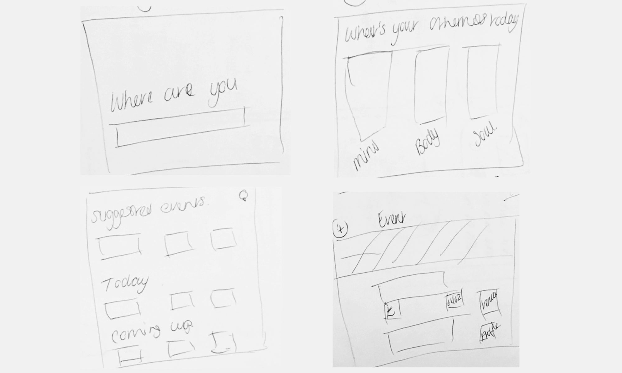 Initial website wireframes