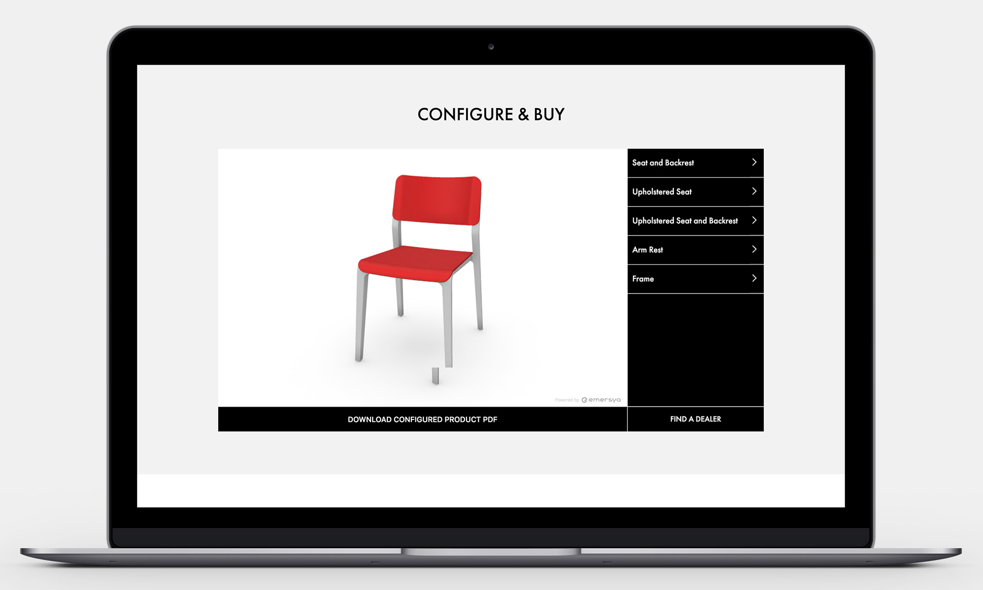 Origin Furniture Website Configure Tool