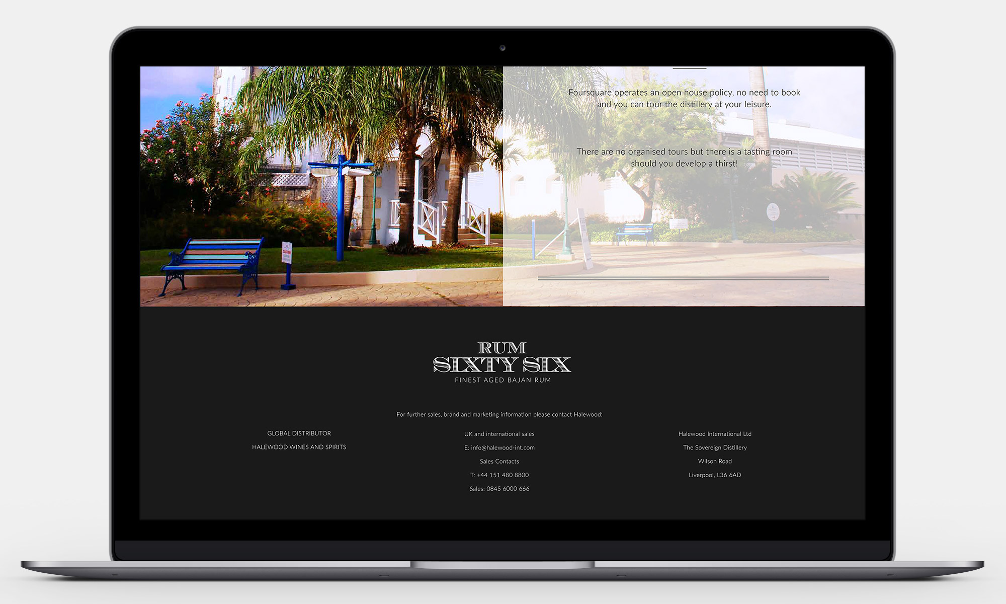 Rum Sixty Six Website Footer
