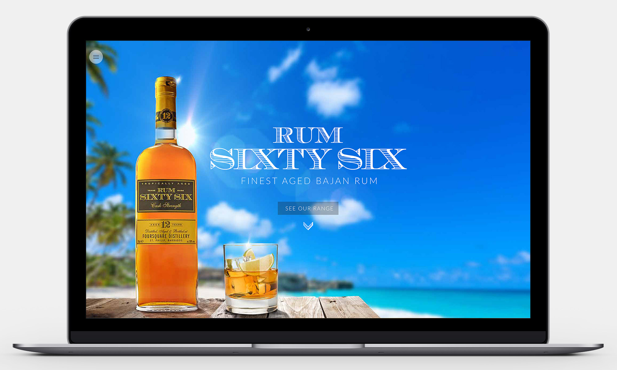 Rum Sixty Six Website Design